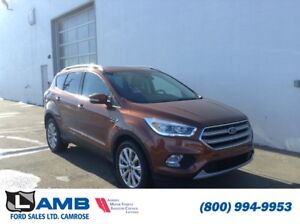 2017 Ford Escape Titanium AWD with Sync Connect, Auto Start/Stop