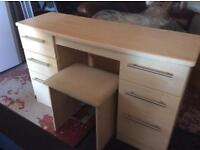 Slim desk/dressing table and stool ***Reduced***