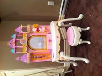 Barbie castle and princess kitchen