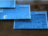 2 X Runrig weekend camping tickets with parking