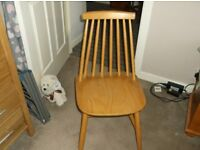 Kitcehn/dining chairs in Light wood finish