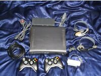 Xbox 360 Elite, 120GB HD, 2 Wireless Controllers, Wifi Adapter, 2 Headsets, 28 Games + 3m HDMI Cable