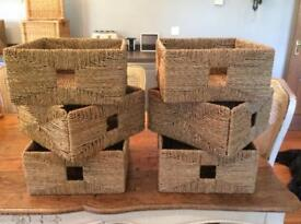 6 matching Storage baskets from ikea
