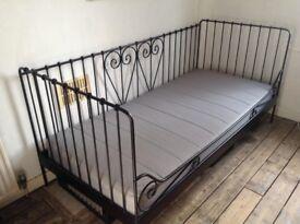 Ikea Black metal day bed