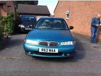 Rover 416SLI 1589cc blue 2 owners from new. Mot low mileage £400 ono