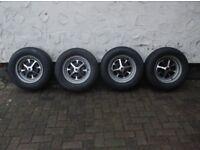 Classic Ford rostyle DEEP DISH wheels Cortina Capri Escort Corsair Anglia etc
