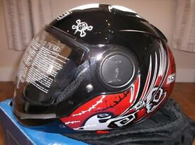 AGV / MDS Tuft Red Motorbike Helmet - New - Unused - Boxed Size Large But Closer to Medium in Fit.