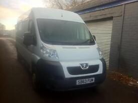 NO VAT! Peugeot boxer335 l3h2 professional van, full years MOT! Full service history
