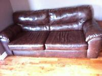 Nice dark brown leather couch