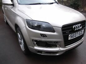 Audi Q7 S line 3.0tdi spares or repair