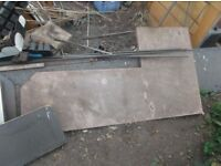 job lot of kitchen worktops for sale -ideal for benchs, diy, shelving or gardening