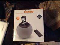 Lenco SPEAKERBALL FOR iPOD 2.1. HIGH POWER SPEAKER WITH iPod DOCKING STATION