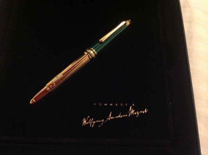 MONTBLANC SPECIAL EDITION 1996 NIKOLAI MOZART MALACHITE FOUNTAIN PEN NEW IN BOX