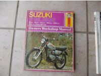 Suzuki Trail Bikes from 1971 Manual £4, Yamaha YZ250 S Service Manual £4 or the 2 for £6 can post