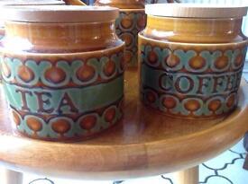 1970s Hornsea England Bronte Vintage Set with Tea pot