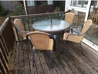 Patio furniture - table and 4 chairs