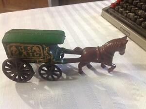 Cast iron us mail wagon