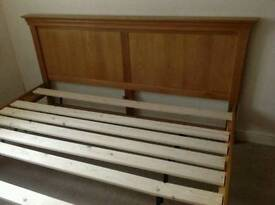 Solid Oak Super King Size Bed Frame