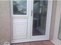 Double glazed door and side panel