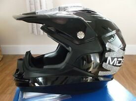 """AGV / MDS ON-OFF """"Lace Up"""" MotoX ATV Motocross Quad Helmet Adult Size Small / New / Boxed / Unused."""