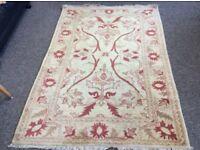 Handmade Oriental Zeigler Carpet Rug(187x127)cm