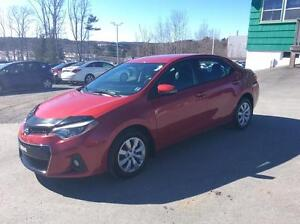 2014 Toyota Corolla SPORT AUTOMATIC WITH LEATHER INSERTS AND BAC
