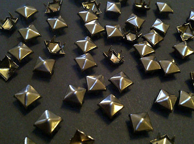 CraftbuddyUS 200pcs 3mm Gunmetal Pyramid Studs, Leather Bag Shoes Belts Shoes Belt Bag