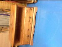 New Price. Solid Pine TV unit - one drawer - very good condition
