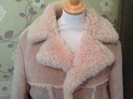 """Bailys of Glastonbury Mens jacket Sheepskin Warm Large 50"""" chest"""