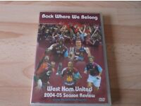 Collection of 6 West Ham United Dvds