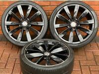 "Volkswagen Scirocco 19"" Lugano Genuine Alloy Wheels 5x112 Golf/Passat CC x3"