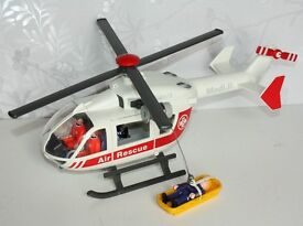 Playmobil Medi II WF.40/3 Air Rescue Helicopter and 4 Figures