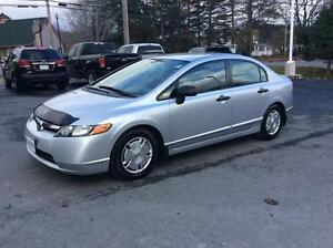 2008 Honda Civic MANUAL TRANSMISSION WITH AIR CONDITIONING!