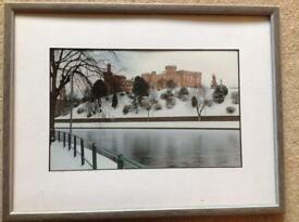 Inverness castle, framed but no glass/plastic front