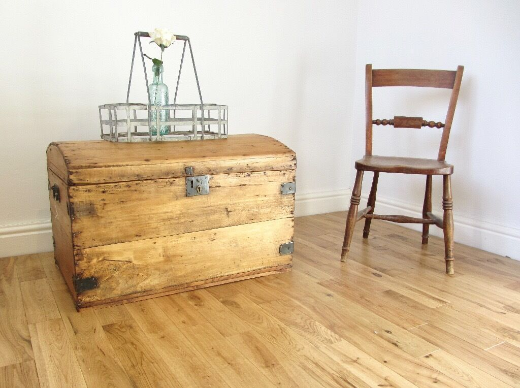 Vintage Pine Storage Chest / Blanket Box