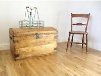 Vintage Pine Storage Chest / Blanket Box