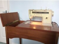 SEWING MACHINE CABINET - Teak Retro Style In Really Nice Condition