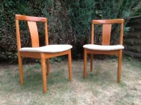 A pair of danish chairs