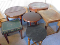 Small Tables To Paint or Upcycle, £10 each.