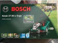 Bosch cordless lawn mower BNIB