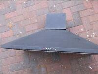 LARGE BLACK CDA EXTRACTER FAN COOKER HOOD 90cm LENGTH