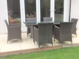 6 Seater Rattan Table and Chairs