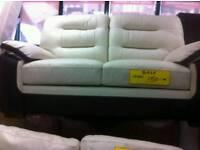 Black n cream 2 seater sofa sale price £ 150