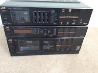 JVC E30 vintage amplifier/tuner/cassette stereo stack