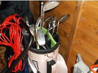 set of golf clubs and bag in good order £50 tel or text 07940328321