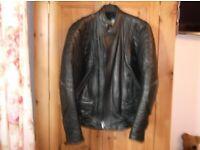 Men's Akito Black Leather Motorcycle Jacket.