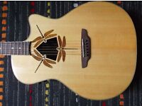 Luna Guitars OCL DFY Oracle Dragonfly Acoustic Electric Guitar