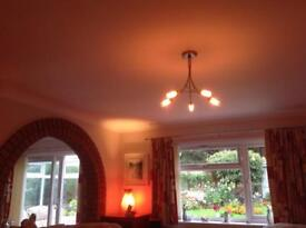 Sitting room ceiling light fitting with bulbs