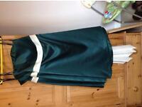 Set of 3 hunter green Dessy bridesmaid dresses size 14