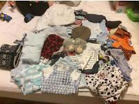 Massive 107 piece newborn 0-3 month baby boy bundle
